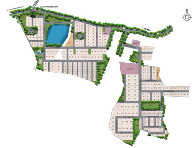 lake-garden Layout Plan,Marg Swarnabhoomi Plots,ECR plots,Villa Plots