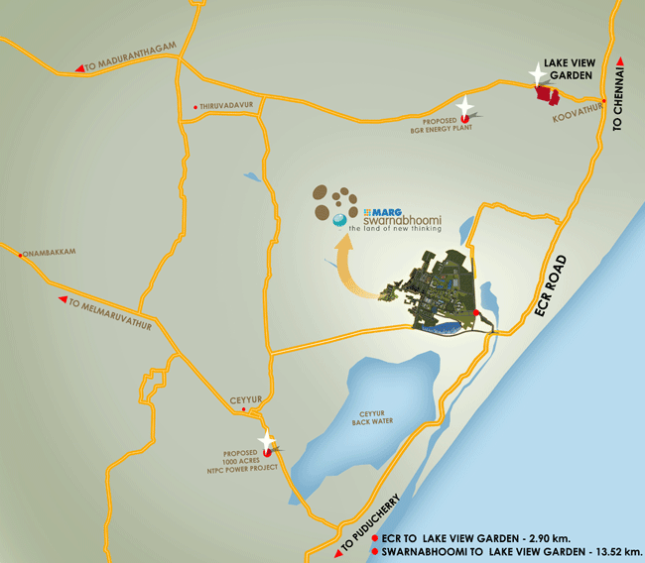 lake-garden,Location Map,Marg Swarnabhoomi,ECR plots,Villa Plots