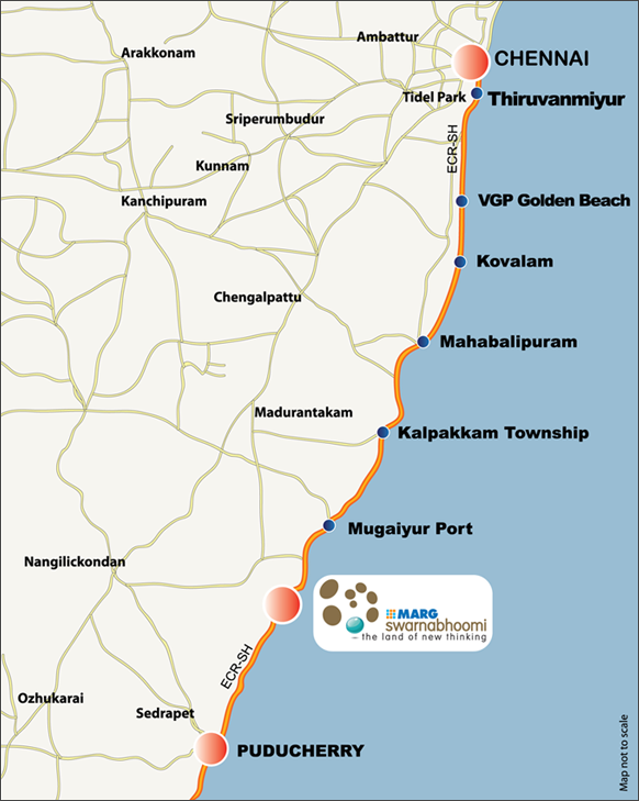 Marg Swarnabhoomi Location Map