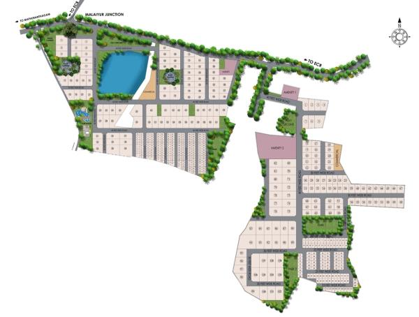 lake-garden Layout Plan - marg Swarnabhoomi