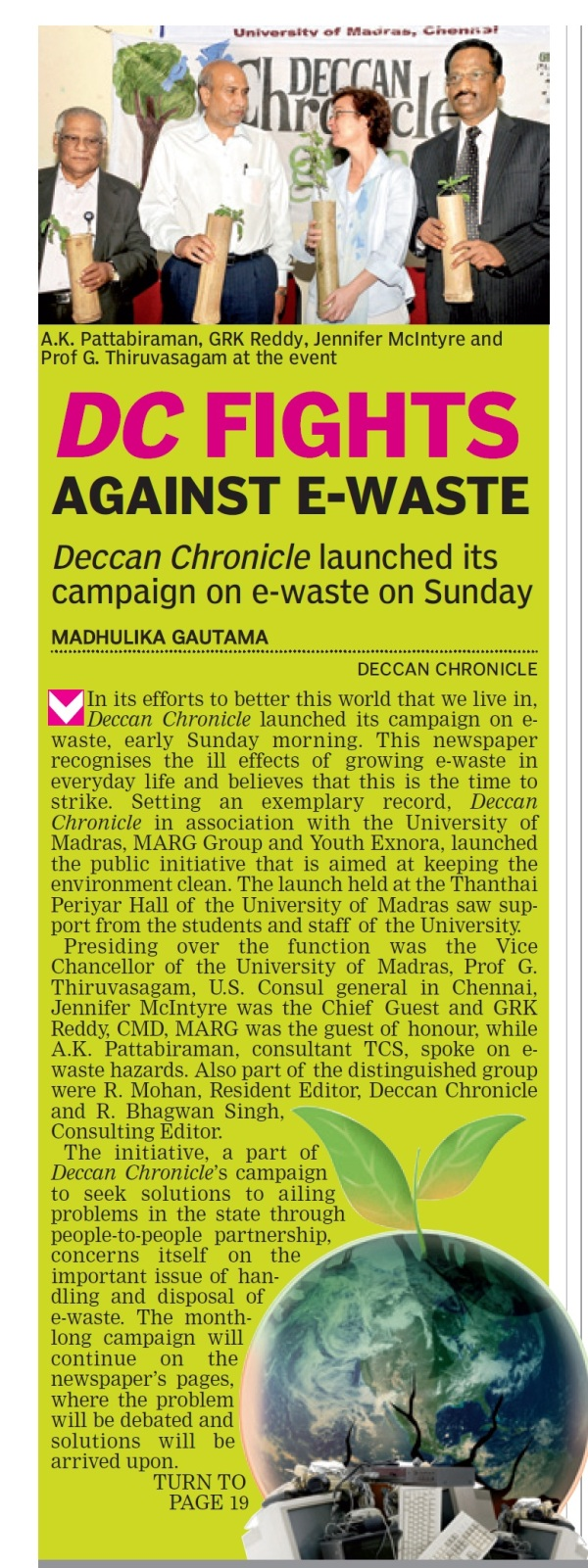 DC Fights against e-Waste - Deccan Chronicle