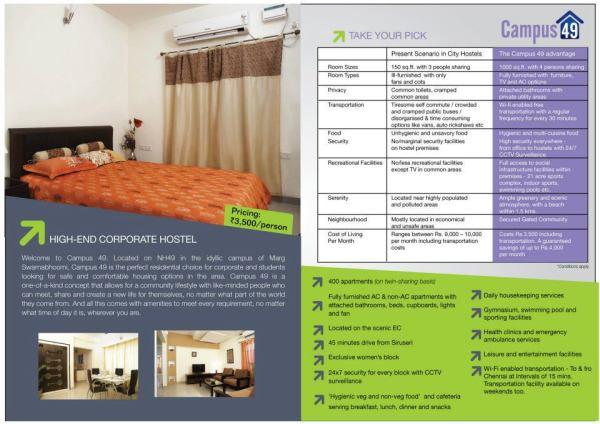 campus 49,Marg Swarnabhoomi,corporate hostel in chennai