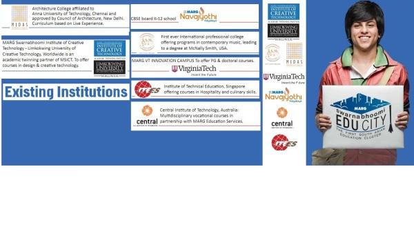 Marg Swarnabhoomi EduCity,marg Educity,marg swarnabhoomi,sam,swarnabhoomi academy of music,MIDAS,marg institute of design and architecture swarnabhoomi,MSICT,Marg Swarnabhoomi Institute of creative technology,MNV School,Marg Navajyothy Vidyalaya school,
