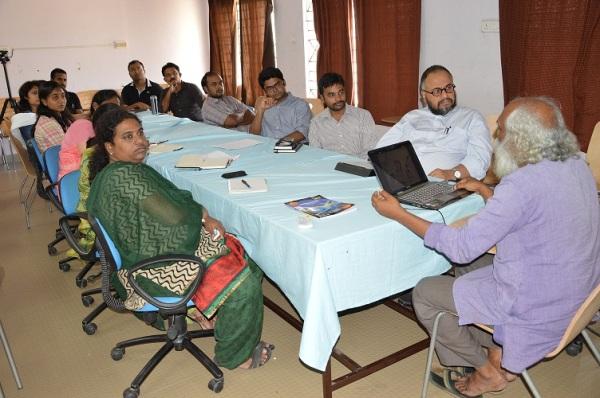 Eminent Thinker JINAN KB lectures at MIDAS at Marg Swarnabhoomi