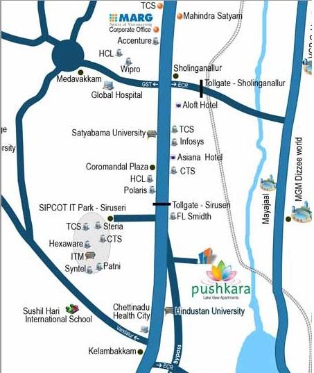 Pushkara location map