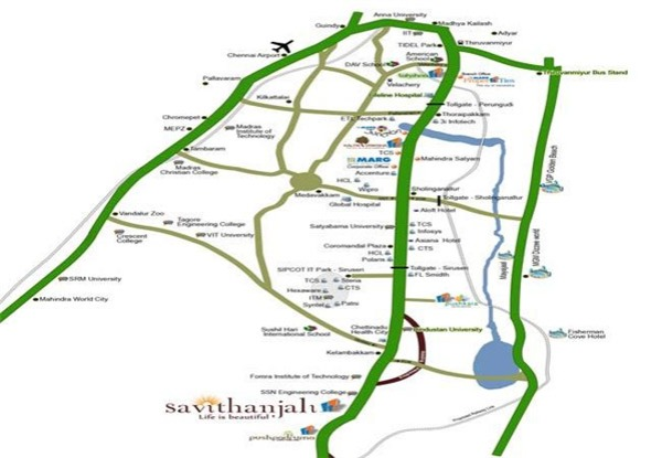 Savithanjali Location map
