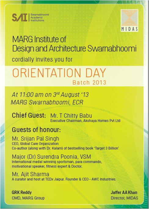 MIDAS,Marg swarnabhoomi,Marg Institute of design and architecture swarnabhoomi,architecture college in chennai