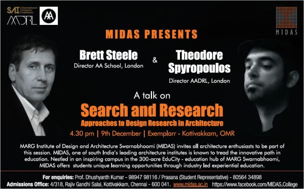 Architecture event,architecture college in chennai,MIDAS,Marg institute of design and architecture swarnabhoomi